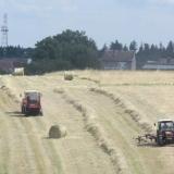Agro Rozstání - balíkování sena na poli