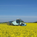 Agro druzstvo Rozstani - chemicke osetreni repky v kvetu